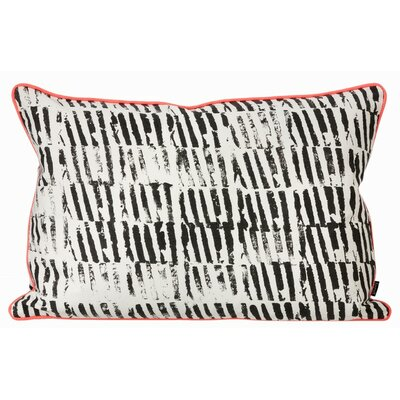 Worn Stripe Cotton Lumbar Pillow