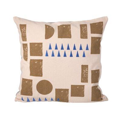 Block Cotton Throw Pillow Color: Rose