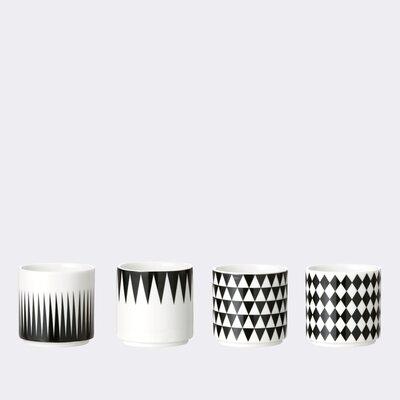 ferm LIVING 4 Piece Geometry Espresso Cup Set 5327