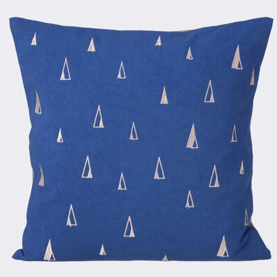 Cone Cotton Throw Pillow Color: Blue