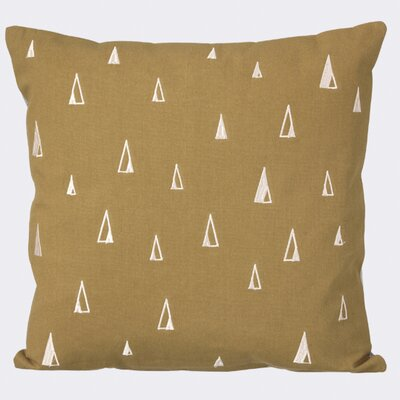 Cone Cotton Throw Pillow Color: Curry