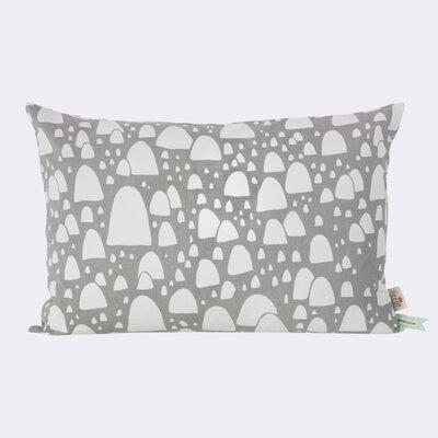 Mountain Tops Cotton Lumbar Pillow Color: Gray