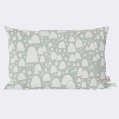 Mountain Tops Cotton Lumbar Pillow Color: Mint