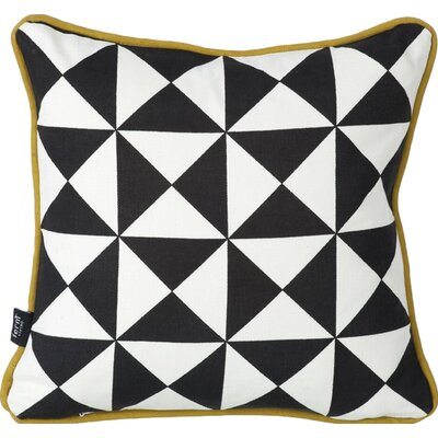 Little Geometry Cotton Throw Pillow Color: Black / Blue