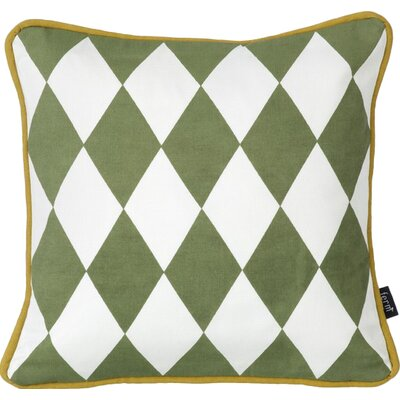 Little Geometry Cotton Throw Pillow Color: Olive