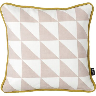 Little Geometry Cotton Throw Pillow Color: Rose