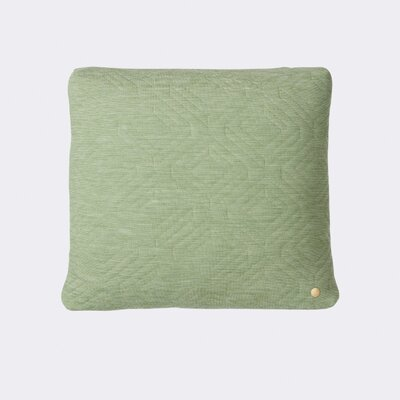 Quilt Zipper Throw Pillow Color: Green