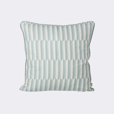 Arch Cotton Throw Pillow Color: Blue / Off-White