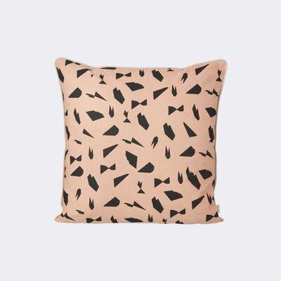 Mini Cut Throw Pillow Color: Rose