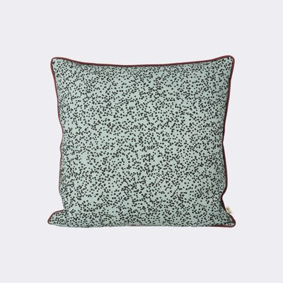 Dottery Cotton Throw Pillow Color: Dusty Blue