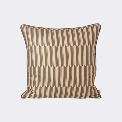 Arch Cotton Throw Pillow Color: Rose / Brown