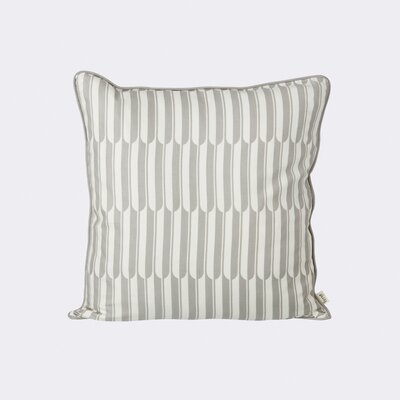 Arch Cotton Throw Pillow Color: Grey / Off-White