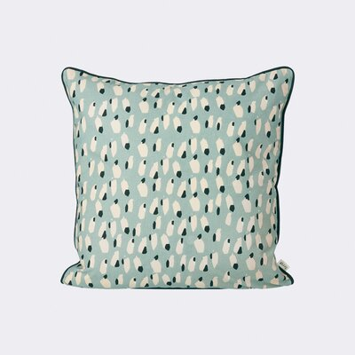 Spotted Cotton Throw Pillow Color: Dusty Blue