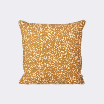 Dottery Cotton Throw Pillow Color: Curry