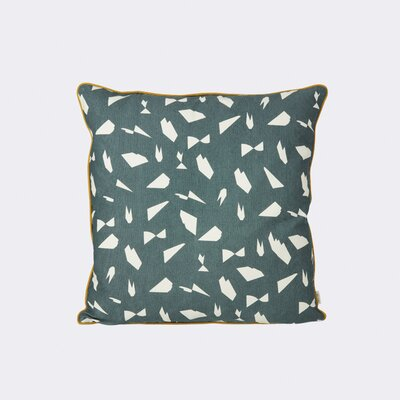 Mini Cut Throw Pillow Color: Green