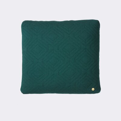 Quilt Zipper Throw Pillow Color: Dark Green
