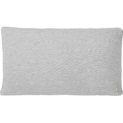 Quilt Zipper Lumbar Pillow Color: Light Grey