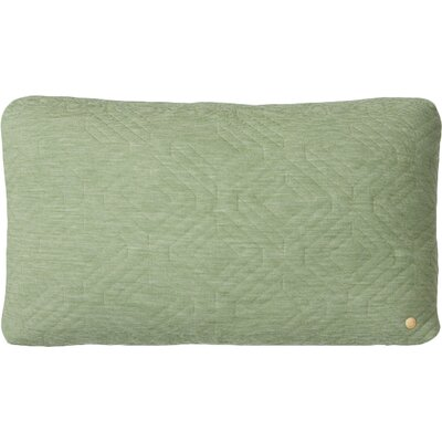 Quilt Zipper Lumbar Pillow Color: Green