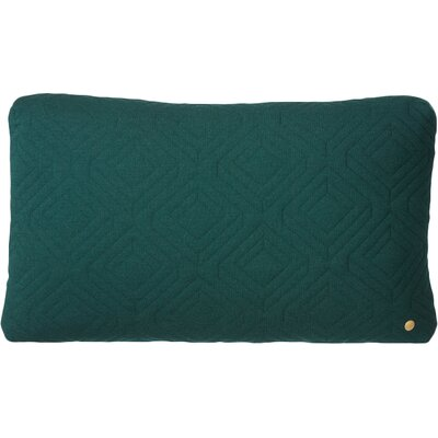 Quilt Zipper Lumbar Pillow Color: Dark Green