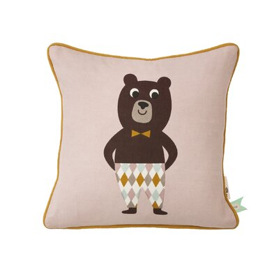 Kids Bear Cotton Throw Pillow