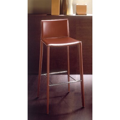 Linda 26 inch Bar Stool Upholstery: Dark Brown