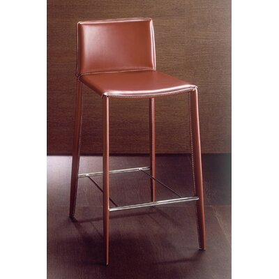 Linda 30 inch Bar Stool Upholstery: White