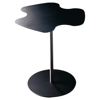 Flower End Table Finish: Anthracite, Size: 17.7 x 18.9 W x 18.9 D
