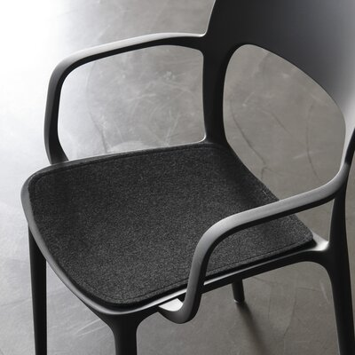 Gipsy Dining Chair Cushion Color: Anthracite