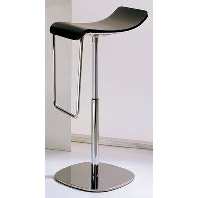 Gas Adjustable Height Swivel Bar Stool Upholstery: Dark Mocha