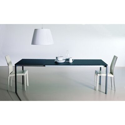 Keyo Dining Table Top Finish Black Base Finish Chrome