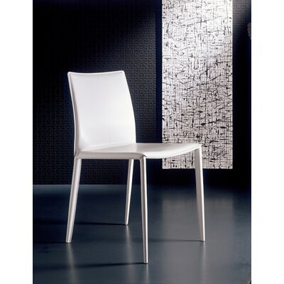 Picture of Bontempi Casa Linda Side Chair (Set of 2) Upholstery: Ivory with black stitching in Large Size