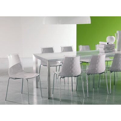 Credit for Leyla Side Chair Finish: White/ Tra...