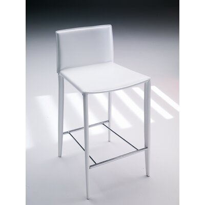 Linda 26 Bar Stool Finish: Black / Off-White Stitching