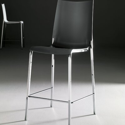 Eva 25.5 Bar Stool Frame Finish: Alu, Upholstery: Anthracite