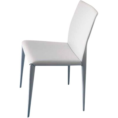Nubia High Back Upholstered Dining Chair Finish: White