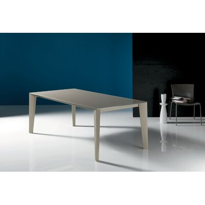 Cruz Extendable Dining Table Base Finish Moka Top Finish Dove Grey Extension Finish Moka