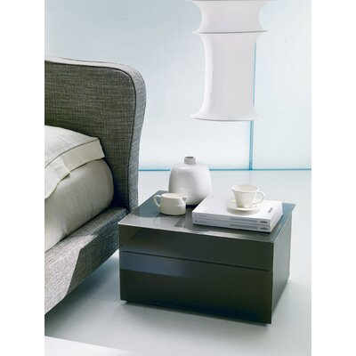 Enea 2 Drawer Nightstand Top/Drawers Frontal Panels: Coffee