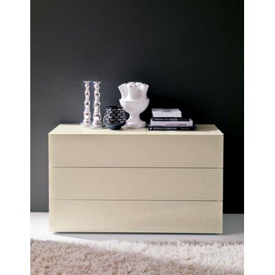 Enea 2 Drawer Nightstand Top/Drawers Frontal Panels: Dark Brown