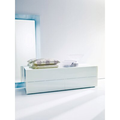 Enea 2 Drawer Nightstand Top/Drawer's Frontal Panels: White