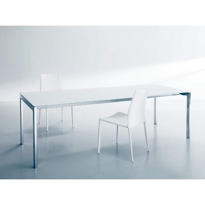 Keyo Extendable Dining Table Base Finish Chrome Top Finish Extrawhite