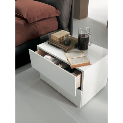 Lux 2 Drawer Chest Color: White