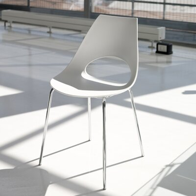 Shark Side Chair (Set of 2) Side Chair Color: White