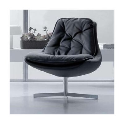 Daya Leather Lounge Chair Upholstery: Black eco-leather