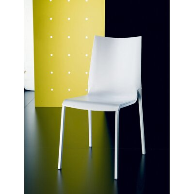 Eva Polypropylene Chair Upholstery: White, Frame Finish: Chrome