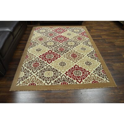 Canton Burgundy/Brown Area Rug