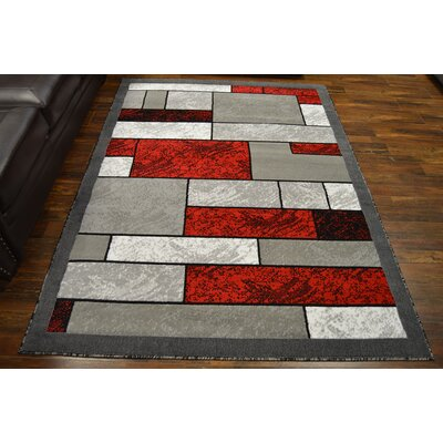 Cottone Red/Gray Area Rug