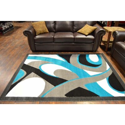 Couey Turquoise/Gray Area Rug