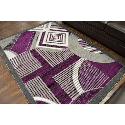 Cosner Purple/Gray Area Rug