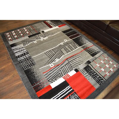 Cosner Gray/Black Area Rug
