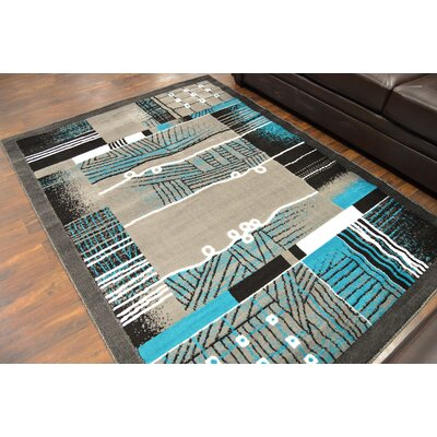 Cosner Turquoise/Gray Area Rug
